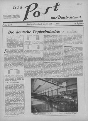 ˜Dieœ Post aus Deutschland vom 26.02.1927