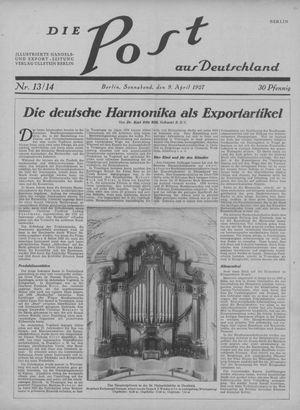 ˜Dieœ Post aus Deutschland vom 09.04.1927