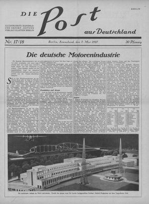 ˜Dieœ Post aus Deutschland vom 07.05.1927