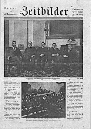 Zeitbilder vom 16.02.1919