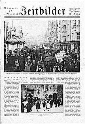 Zeitbilder vom 01.05.1921