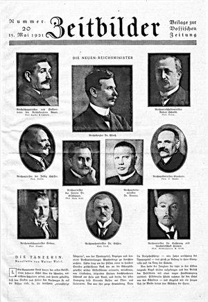 Zeitbilder vom 15.05.1921