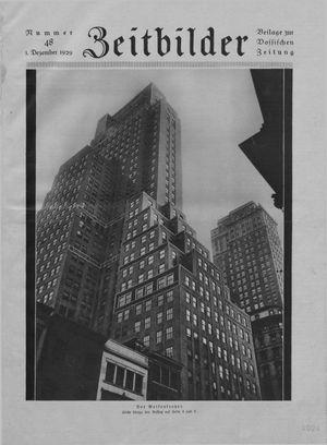 Zeitbilder vom 01.12.1929