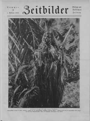 Zeitbilder vom 01.02.1931