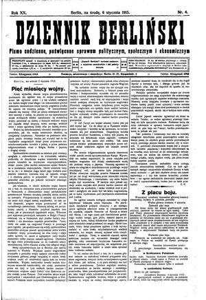 Dziennik Berliński vom 06.01.1915