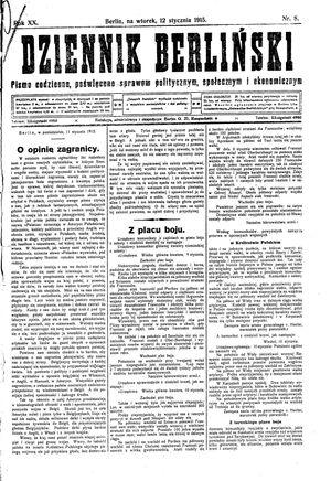 Dziennik Berliński vom 12.01.1915