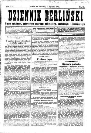 Dziennik Berliński vom 14.01.1915