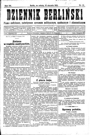 Dziennik Berliński vom 16.01.1915