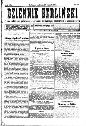 Dziennik Berliński vom 24.01.1915