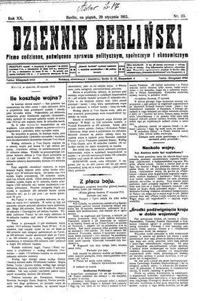 Dziennik Berliński vom 29.01.1915