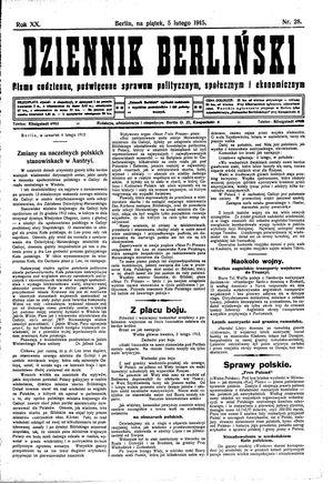 Dziennik Berliński vom 05.02.1915