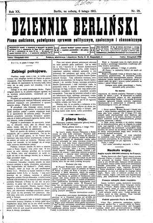 Dziennik Berliński vom 06.02.1915