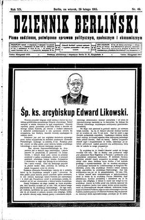 Dziennik Berliński vom 23.02.1915
