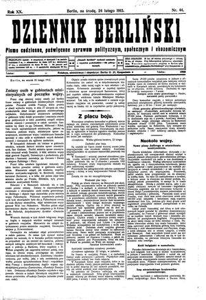 Dziennik Berliński vom 24.02.1915