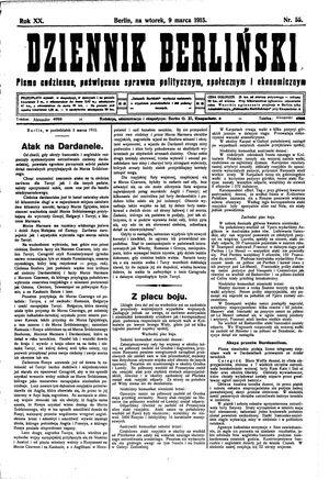 Dziennik Berliński vom 09.03.1915