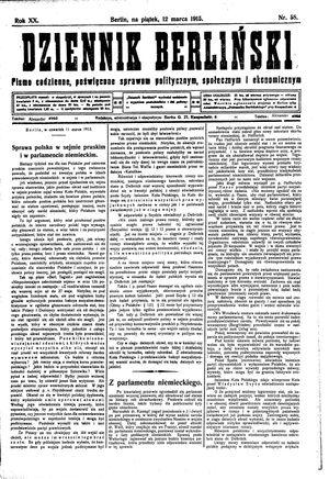 Dziennik Berliński vom 12.03.1915