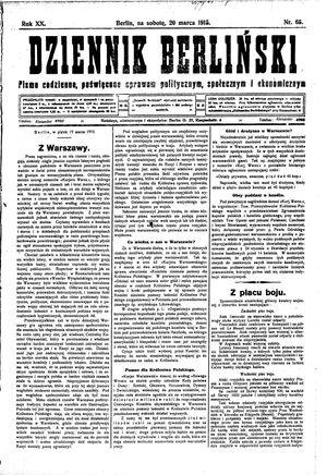 Dziennik Berliński vom 20.03.1915
