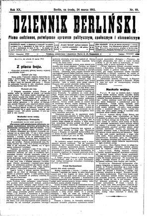 Dziennik Berliński vom 24.03.1915