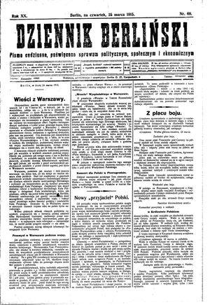 Dziennik Berliński vom 25.03.1915