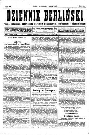 Dziennik Berliński vom 01.05.1915