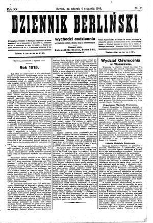 Dziennik Berliński vom 04.01.1916
