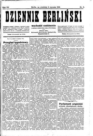 Dziennik Berliński on Jan 9, 1916