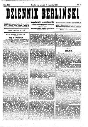 Dziennik Berliński vom 11.01.1916
