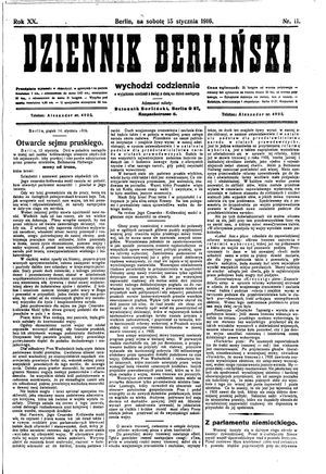 Dziennik Berliński vom 15.01.1916