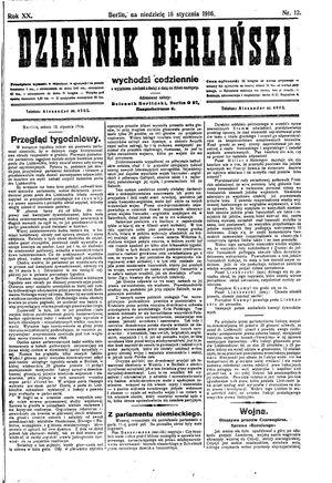 Dziennik Berliński on Jan 16, 1916