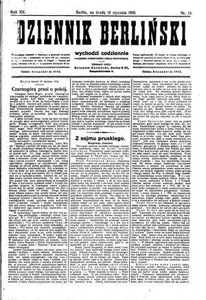 Dziennik Berliński vom 19.01.1916