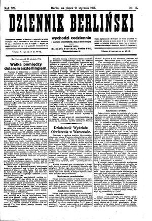 Dziennik Berliński on Jan 21, 1916