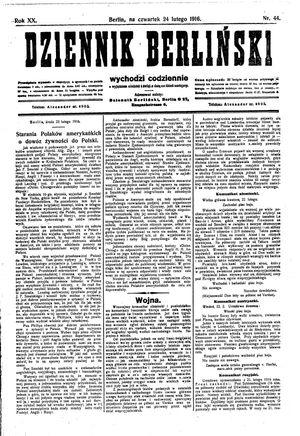 Dziennik Berliński vom 24.02.1916