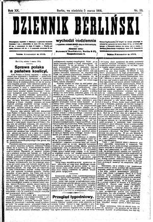 Dziennik Berliński vom 05.03.1916