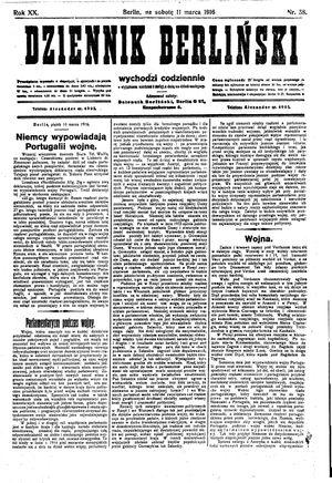 Dziennik Berliński vom 11.03.1916