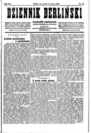 Dziennik Berliński vom 21.03.1916