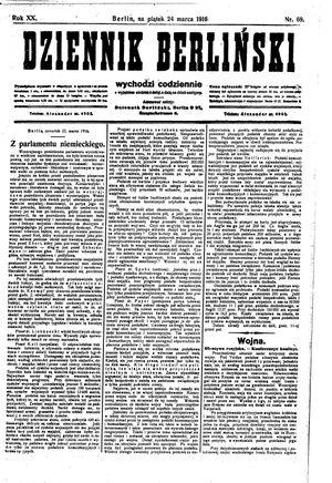 Dziennik Berliński vom 24.03.1916