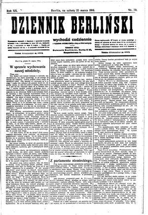 Dziennik Berliński on Mar 25, 1916