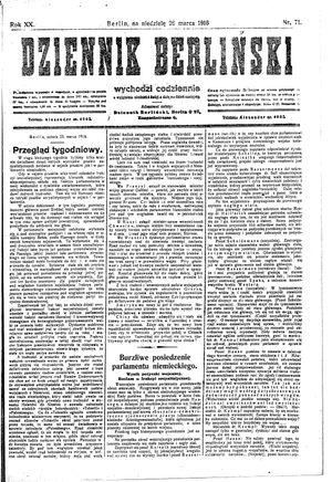 Dziennik Berliński vom 26.03.1916