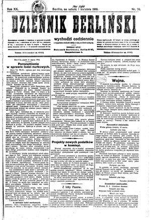 Dziennik Berliński vom 01.04.1916