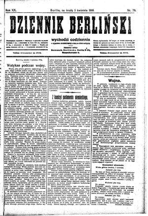 Dziennik Berliński vom 05.04.1916
