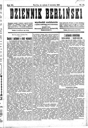 Dziennik Berliński vom 08.04.1916