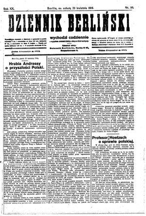 Dziennik Berliński on Apr 29, 1916