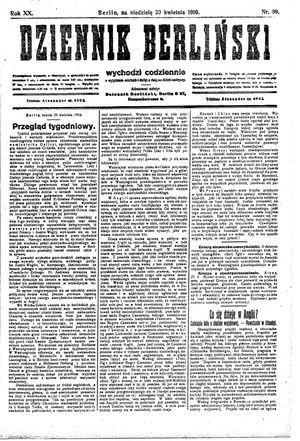 Dziennik Berliński on Apr 30, 1916