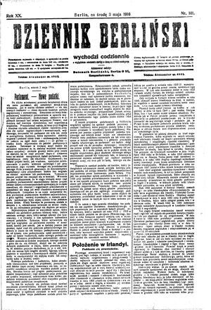 Dziennik Berliński vom 03.05.1916