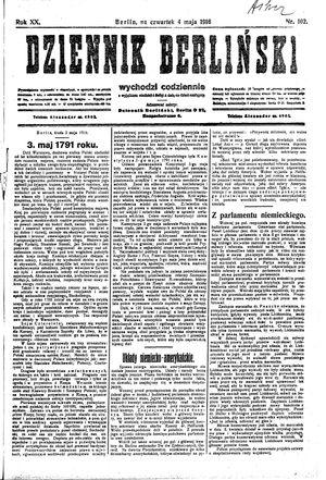 Dziennik Berliński vom 04.05.1916