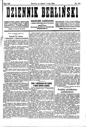 Dziennik Berliński vom 05.05.1916