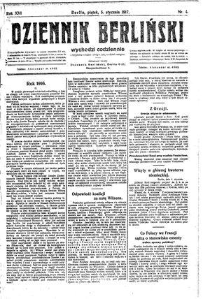 Dziennik Berliński vom 05.01.1917