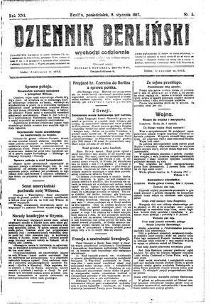 Dziennik Berliński vom 08.01.1917