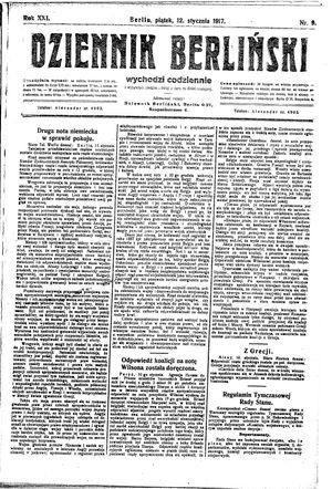 Dziennik Berliński vom 12.01.1917