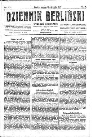 Dziennik Berliński vom 13.01.1917